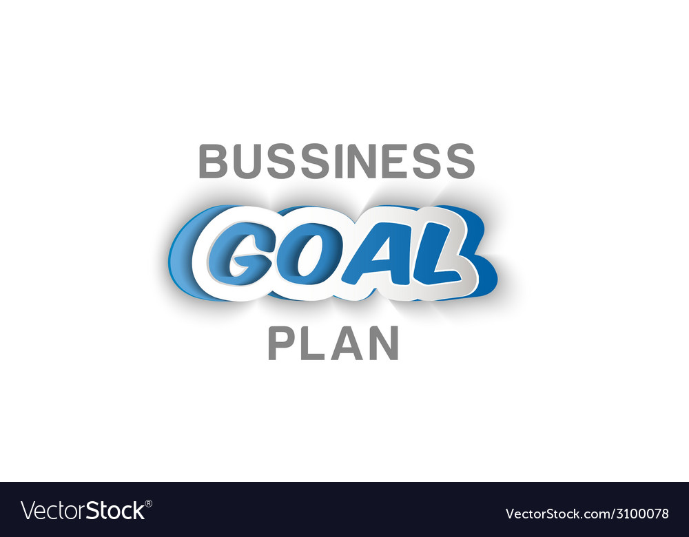 Paper business goal plan vector | Price: 1 Credit (USD $1)