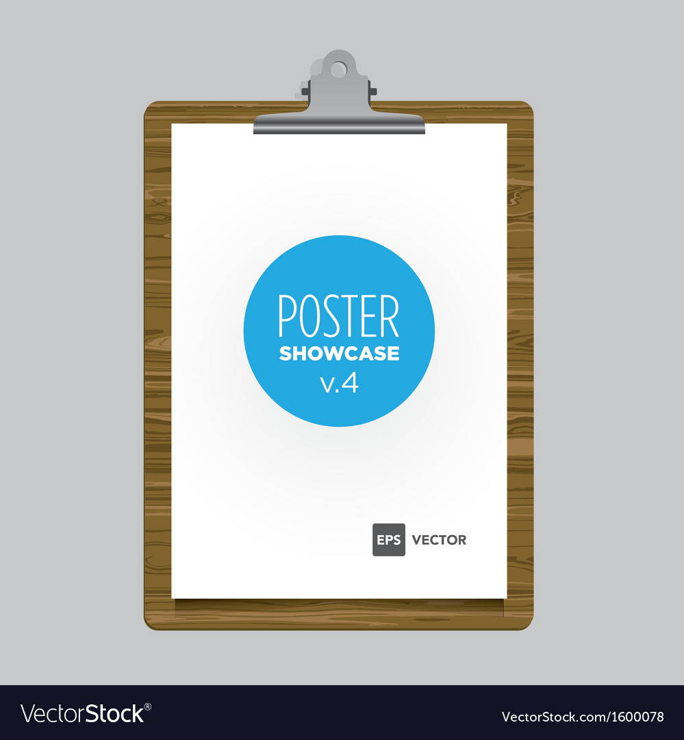 Poster bulldog clip tablet vector | Price: 1 Credit (USD $1)