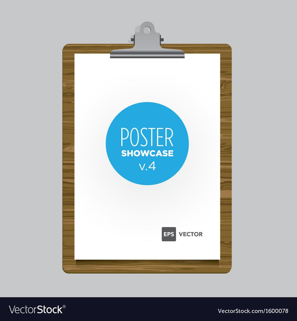 Poster bulldog clip tablet vector | Price: 1 Credit (USD $1)