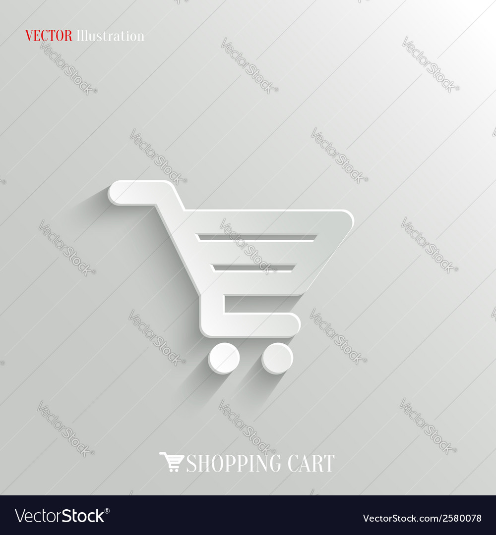 Shopping cart icon - web background vector | Price: 1 Credit (USD $1)