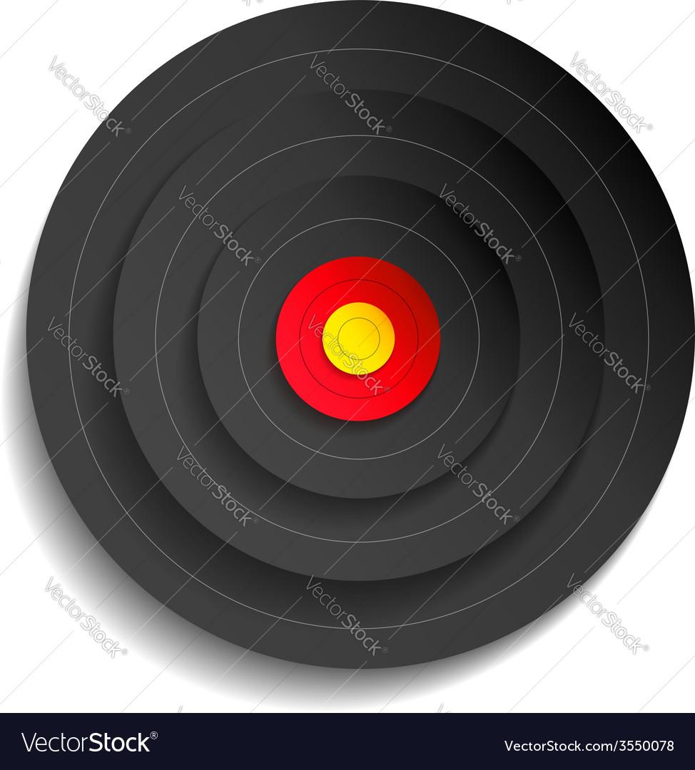 Target black vector | Price: 1 Credit (USD $1)