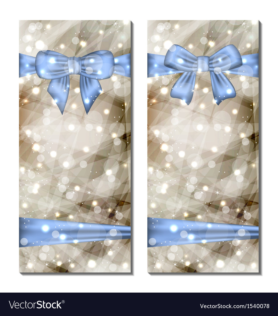 Traditional cards with gift bows isolated vector | Price: 1 Credit (USD $1)