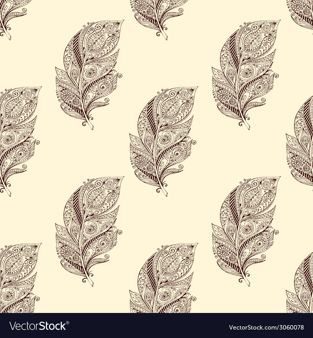 Vintage seamless pattern with original hand drawn vector | Price: 1 Credit (USD $1)