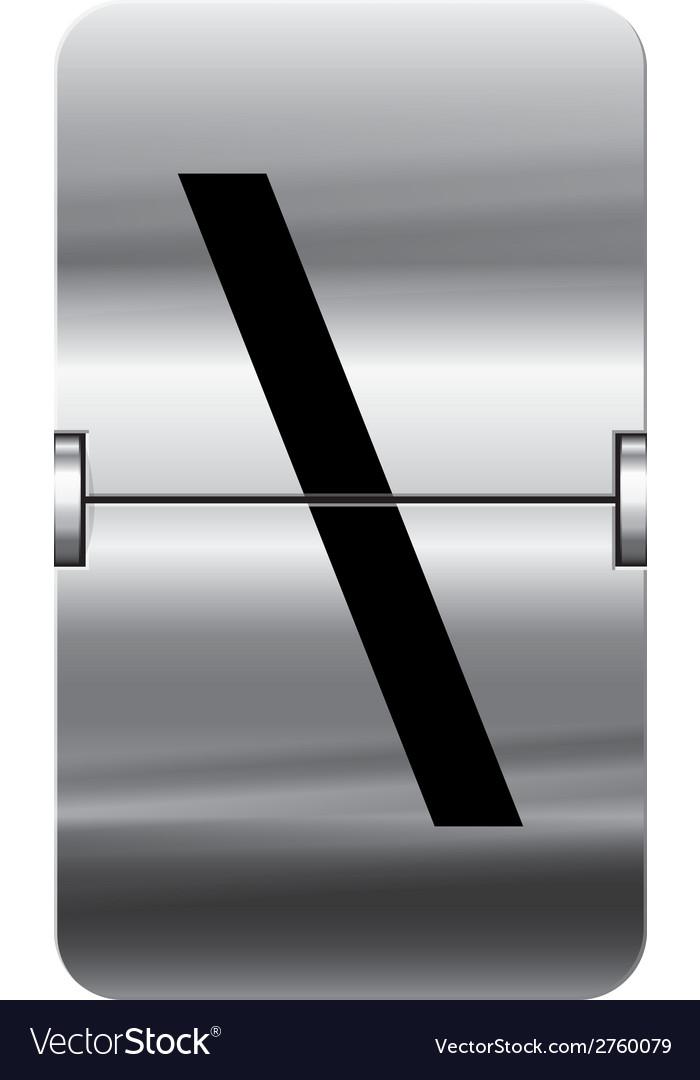 Alphabet silver flipboard letters backslash vector | Price: 1 Credit (USD $1)