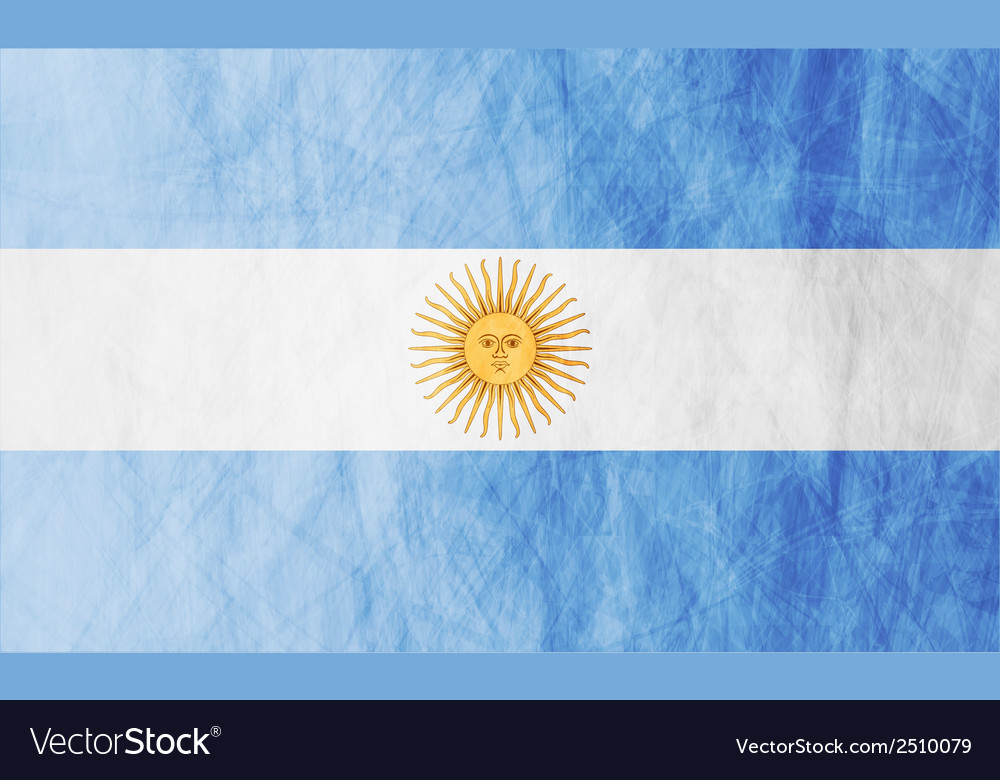 Argentinean grunge flag vector | Price: 1 Credit (USD $1)