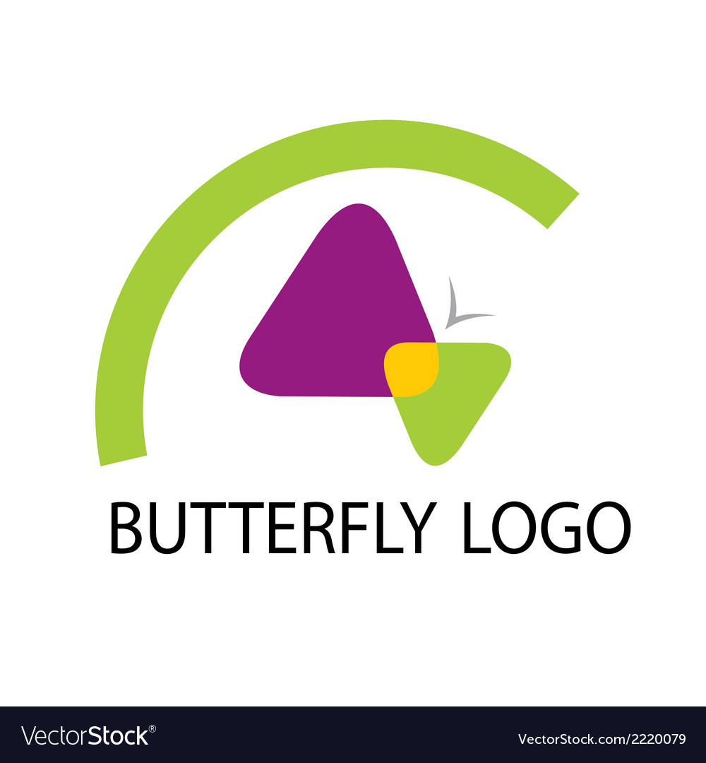 Butterfly logo template icon vector | Price: 1 Credit (USD $1)