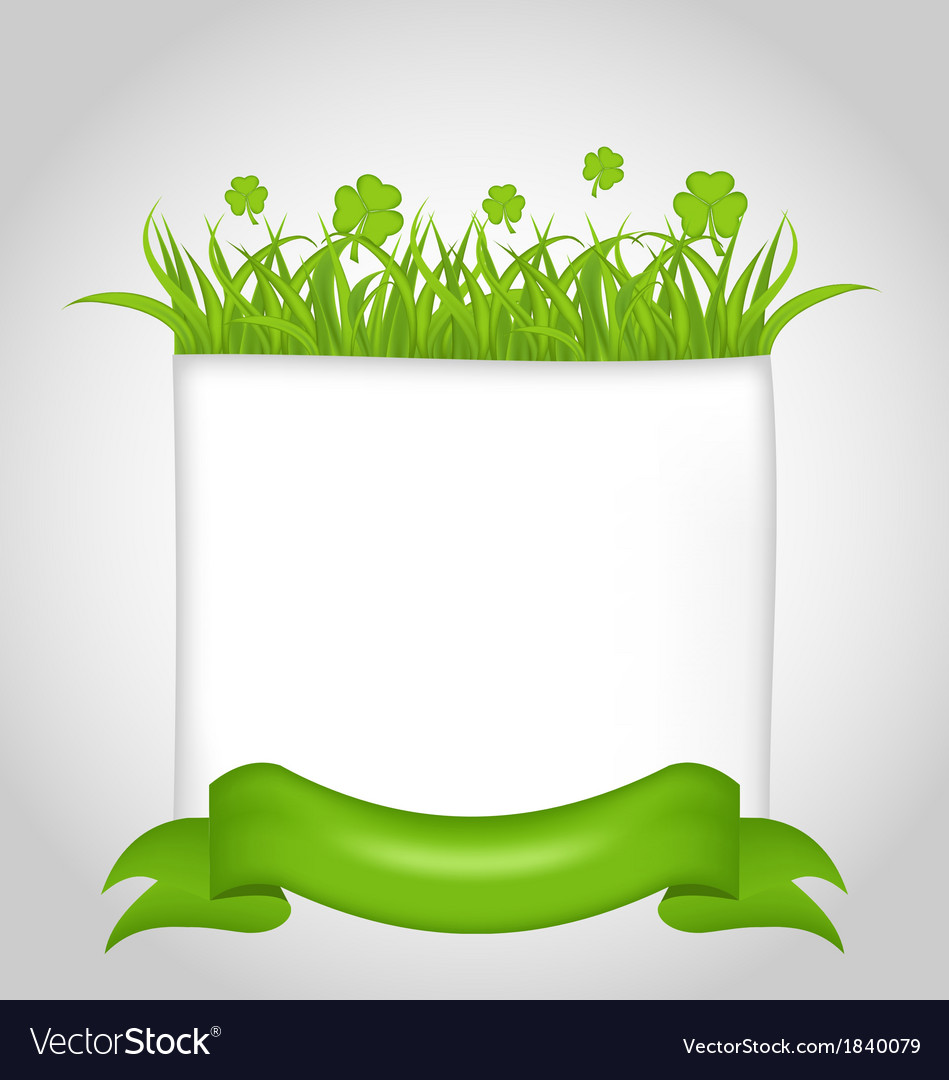 Cute nature card for st patricks day vector | Price: 1 Credit (USD $1)