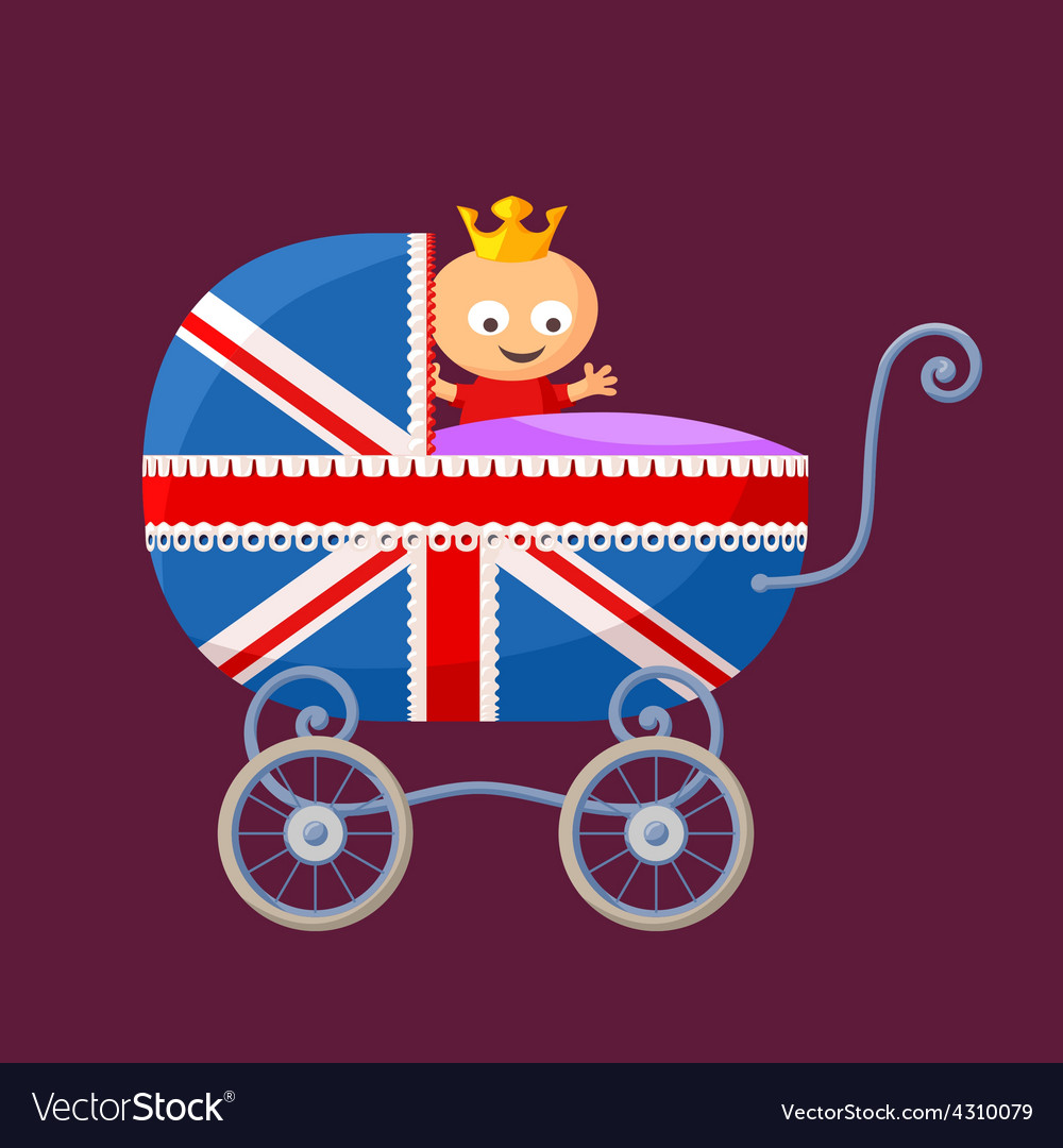 English royal baby vector | Price: 1 Credit (USD $1)