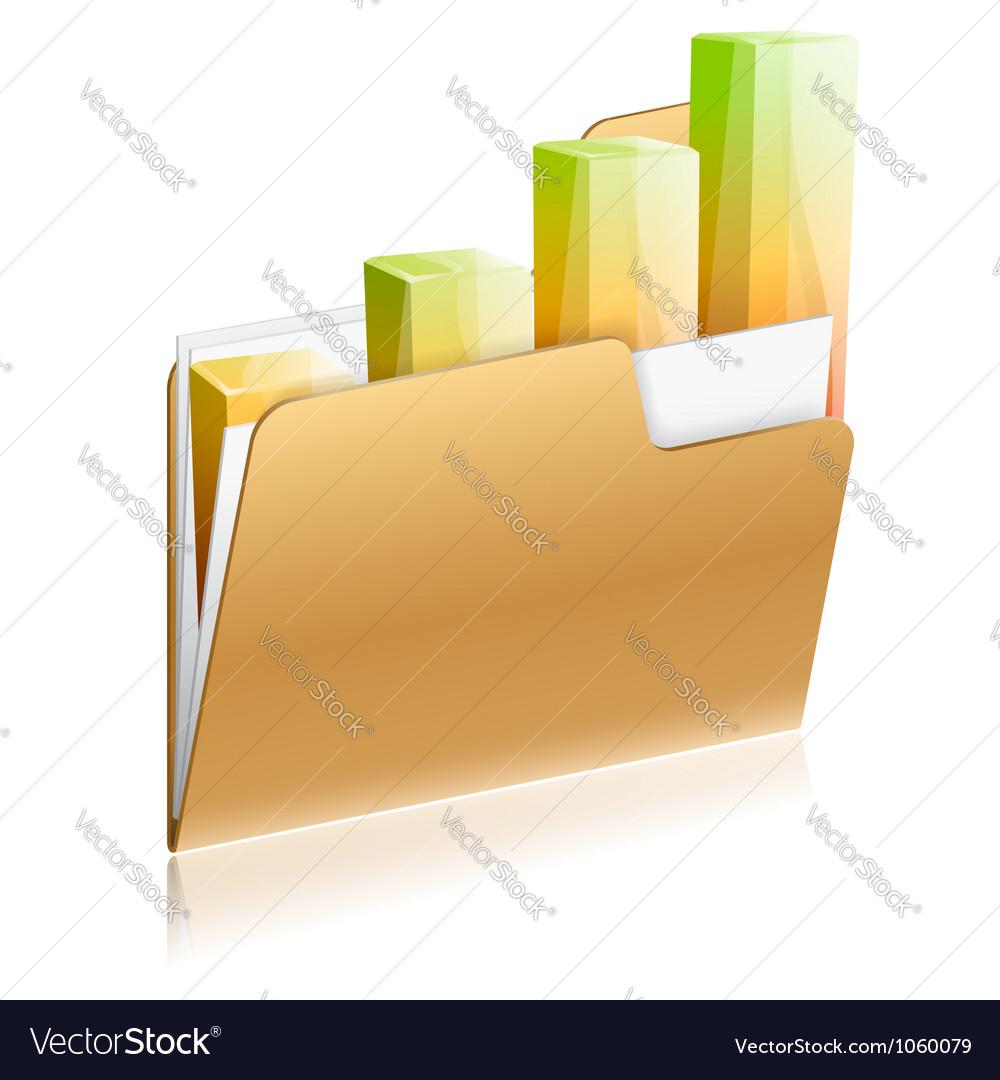 Financial folder icon vector | Price: 1 Credit (USD $1)