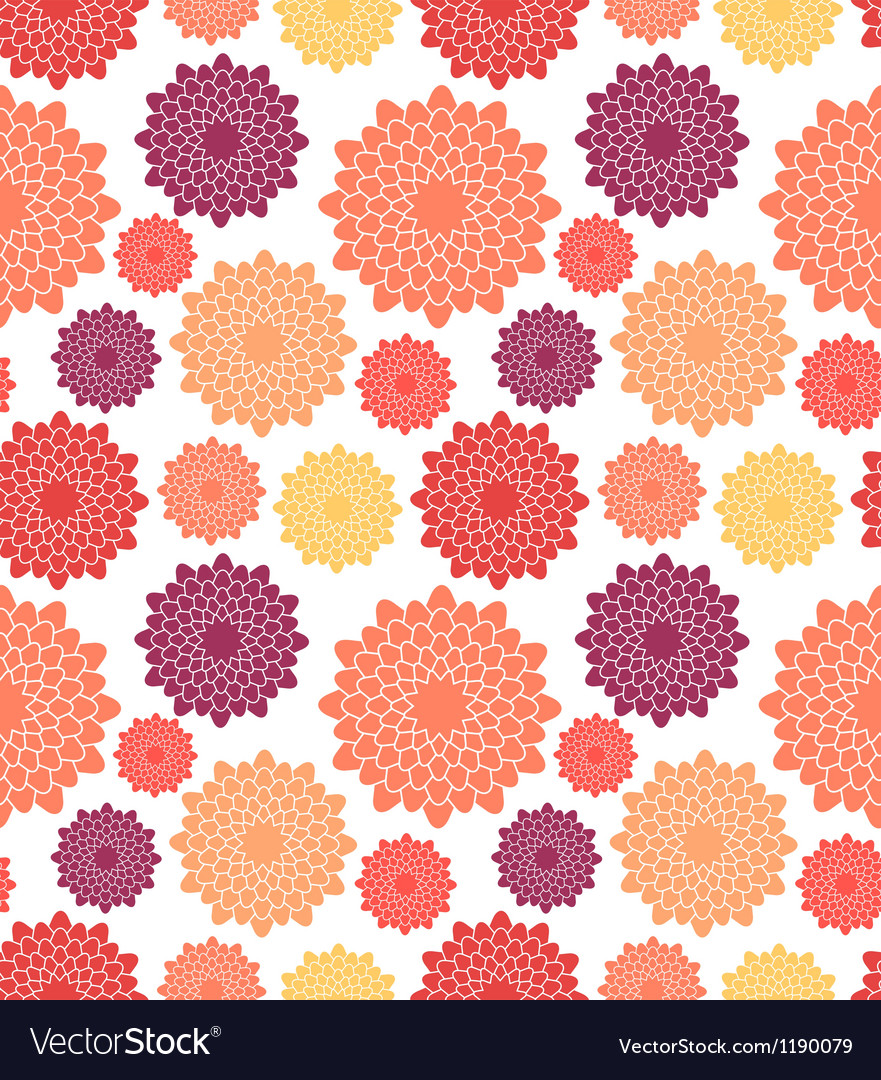 Floral pattern chrysanthemum vector | Price: 1 Credit (USD $1)