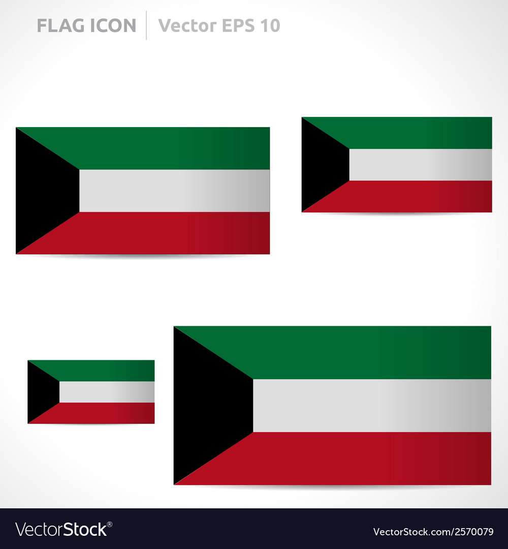 Kuwait flag template vector | Price: 1 Credit (USD $1)
