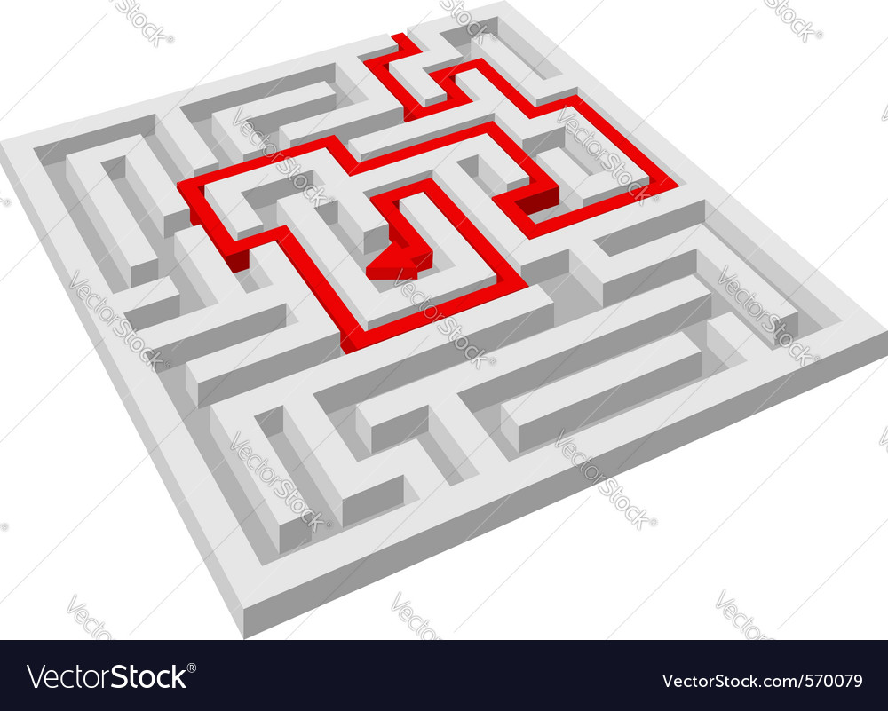 Labyrinth maze vector | Price: 1 Credit (USD $1)