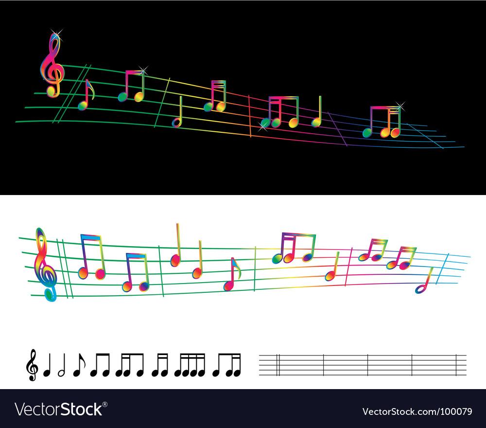Rainbow sheet music vector | Price: 1 Credit (USD $1)