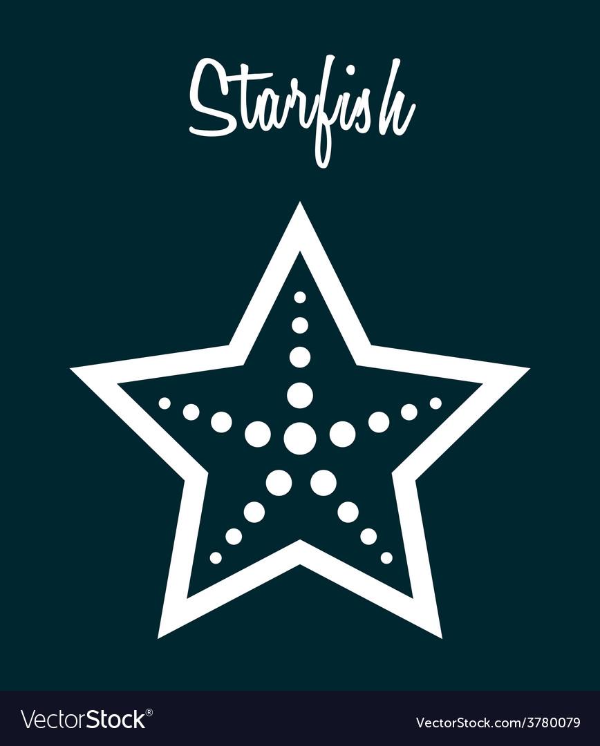 Starfish vector | Price: 1 Credit (USD $1)