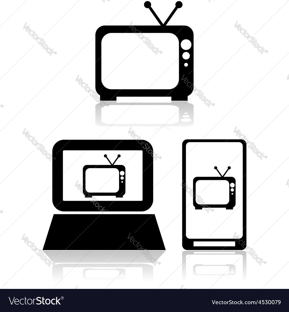 Tv streaming vector | Price: 1 Credit (USD $1)