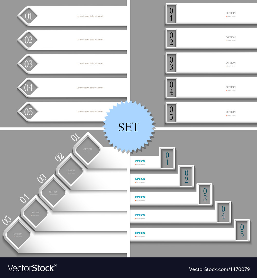 White design templates banners for infographics vector | Price: 1 Credit (USD $1)