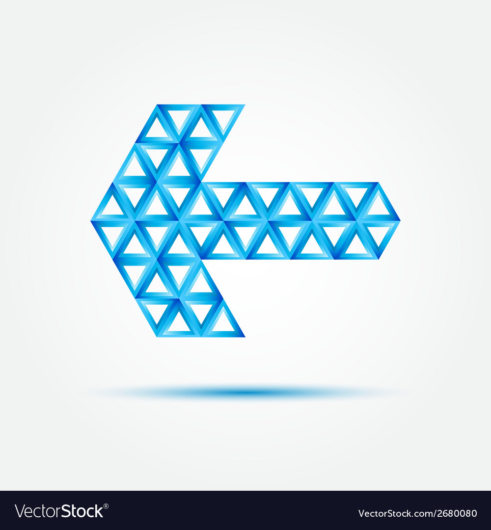 Blue abstract arror made with triangles - vector | Price: 1 Credit (USD $1)