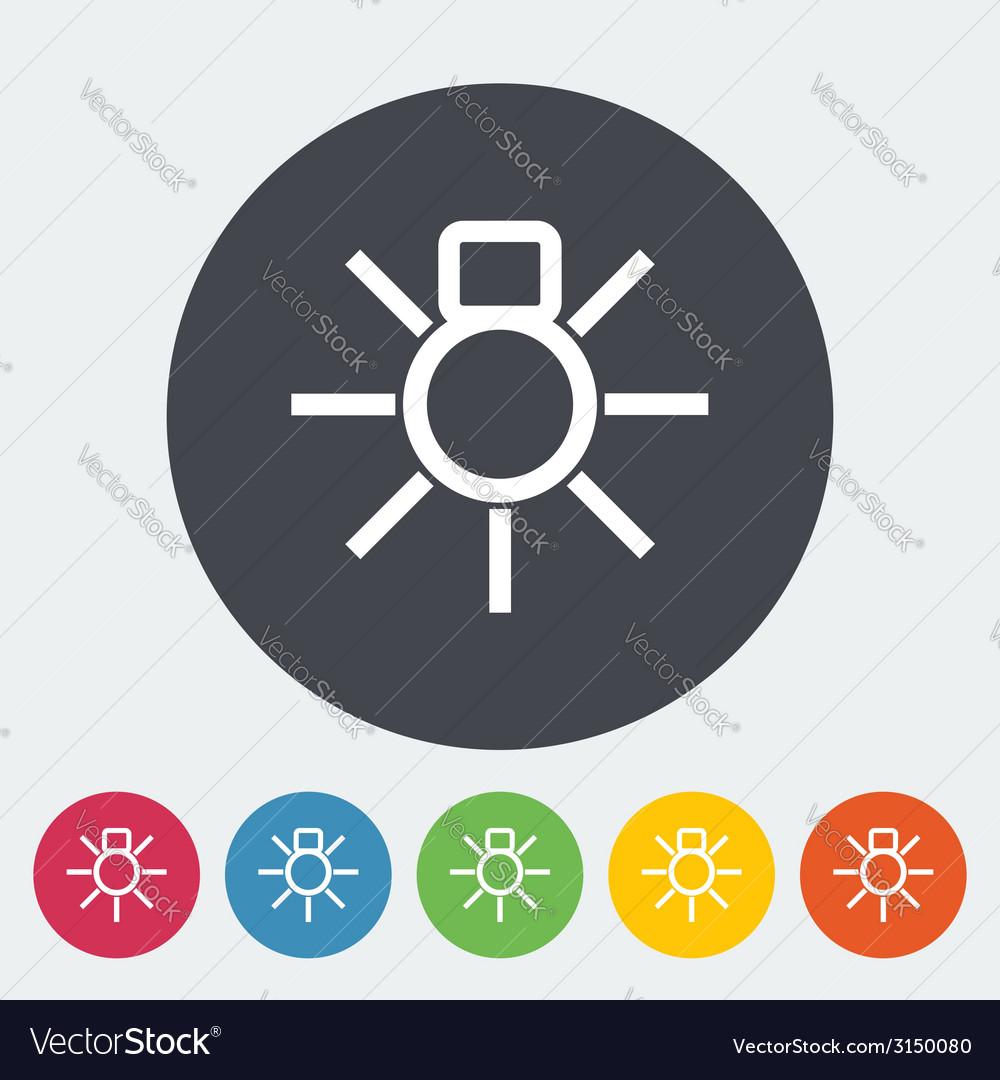 Bulb flat icon vector | Price: 1 Credit (USD $1)