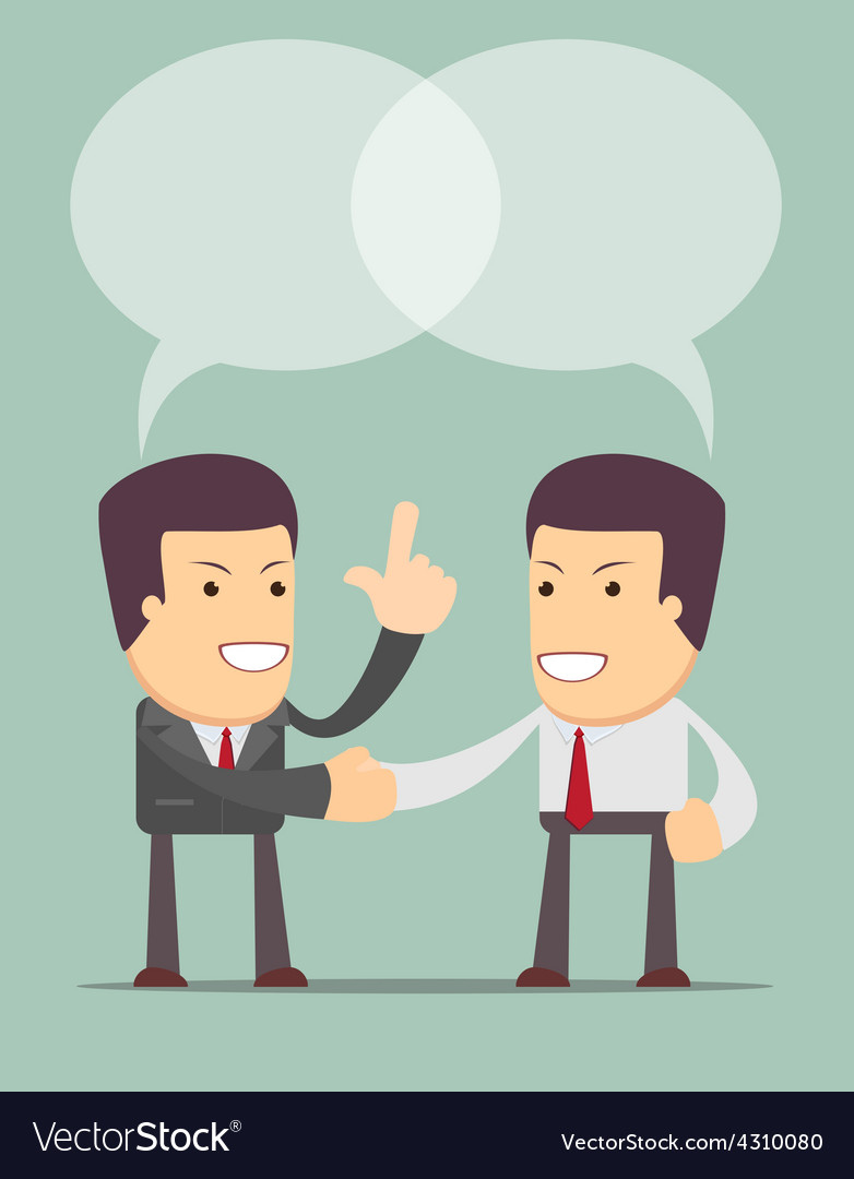 Business people shaking hands vector | Price: 1 Credit (USD $1)
