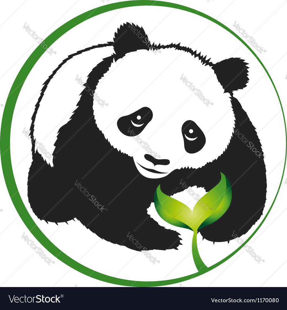 Eco panda vector | Price: 1 Credit (USD $1)
