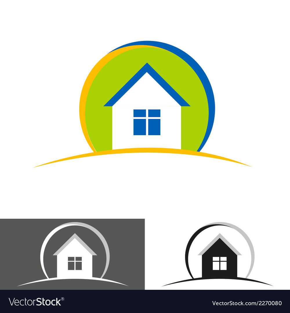House home logo icon vector | Price: 1 Credit (USD $1)