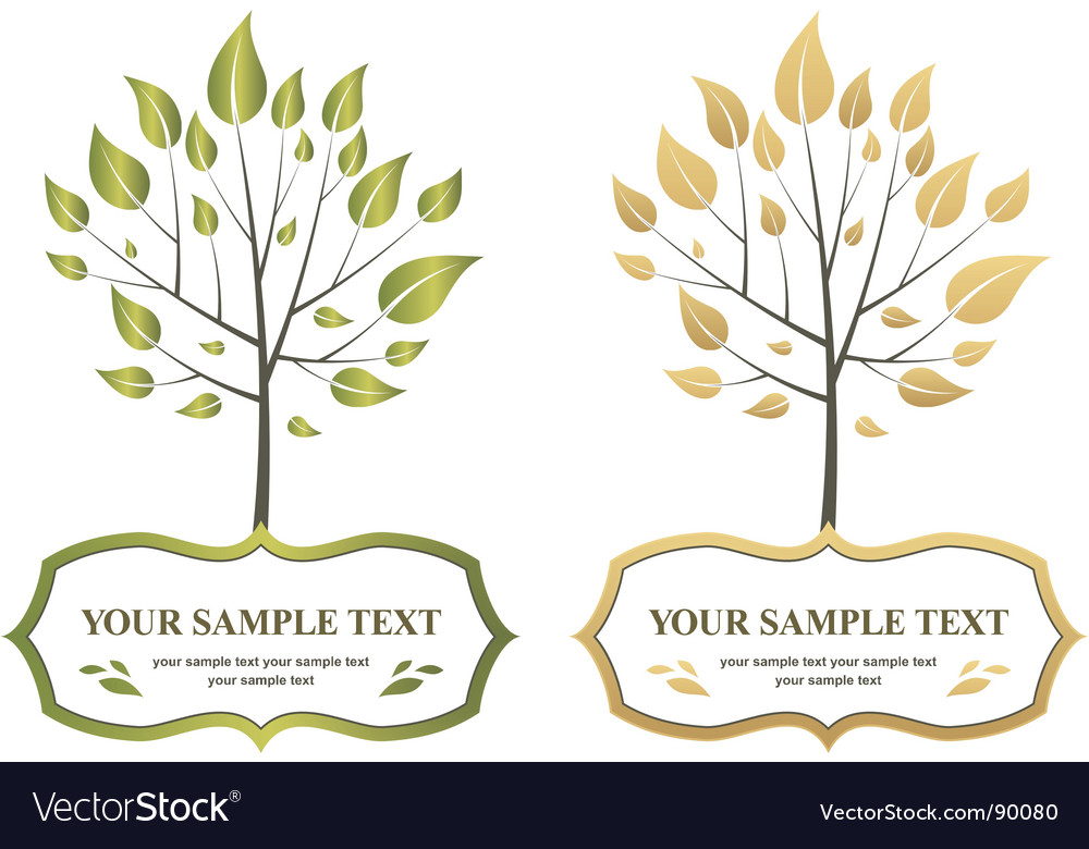 Label trees vector | Price: 1 Credit (USD $1)