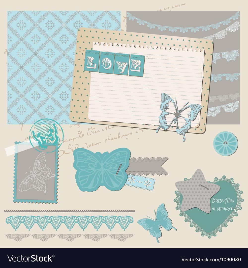 Love set of design elements vector | Price: 3 Credit (USD $3)