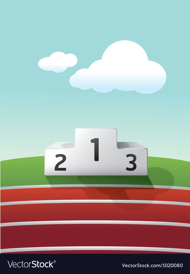Podium sport on grass and track running vector | Price: 1 Credit (USD $1)