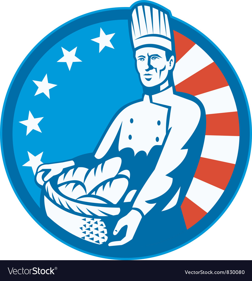 Retro american baker vector | Price: 1 Credit (USD $1)
