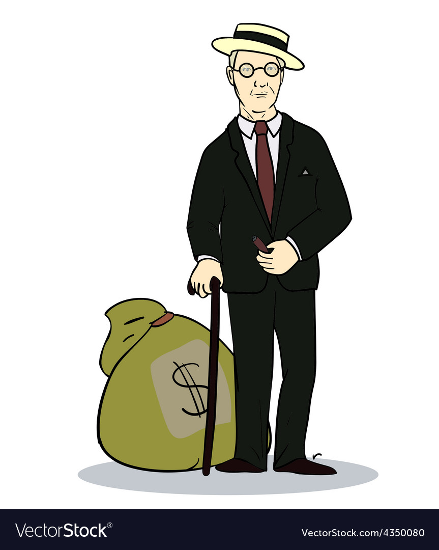 Rich man with sack of money of vector | Price: 1 Credit (USD $1)