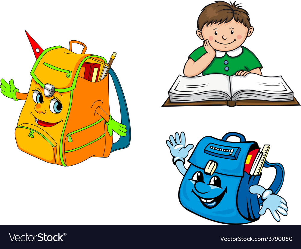Set of colorful school education icons vector | Price: 1 Credit (USD $1)