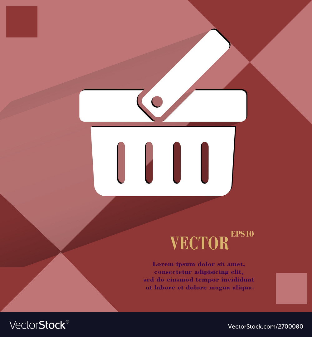 Shopping basket flat modern web design on a flat vector | Price: 1 Credit (USD $1)