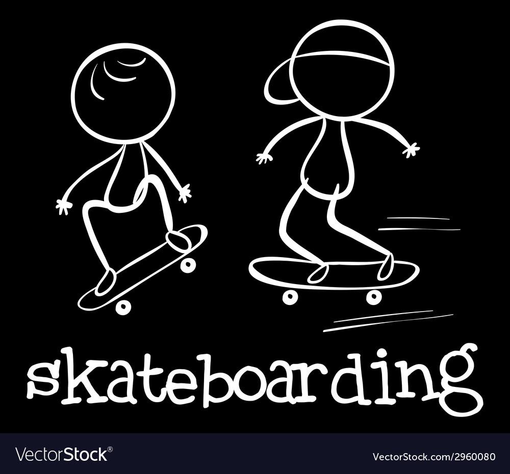 Skateboarding vector   Price: 1 Credit (USD $1)