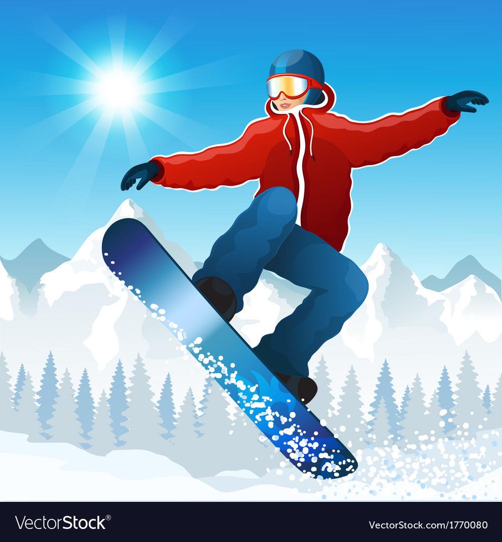 Snowboarding vector | Price: 3 Credit (USD $3)