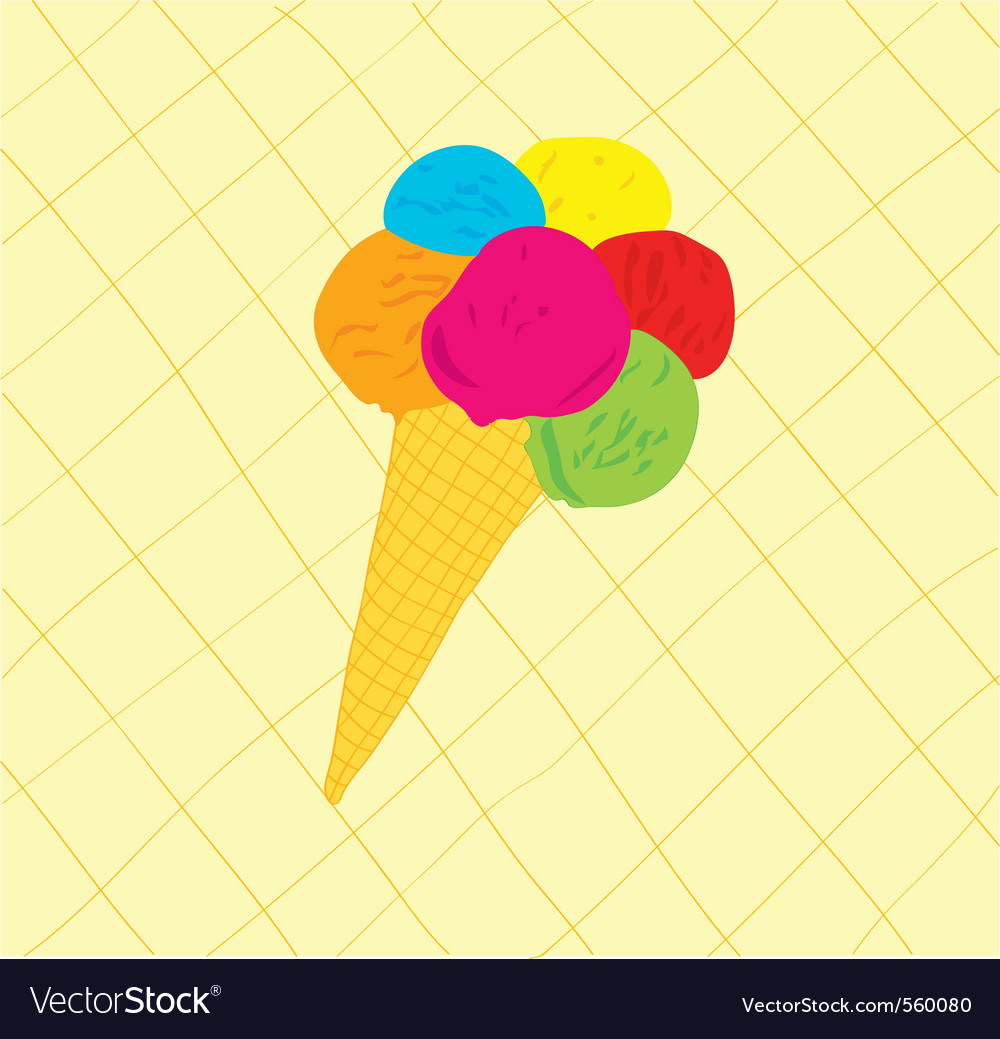 Sweet icecream cone vector | Price: 1 Credit (USD $1)