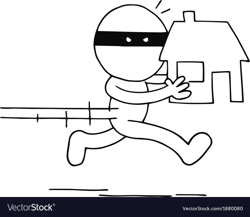 Thief carrying house vector | Price: 1 Credit (USD $1)