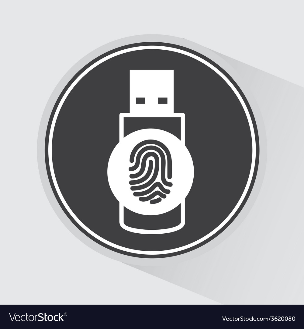 Usb icon vector | Price: 1 Credit (USD $1)