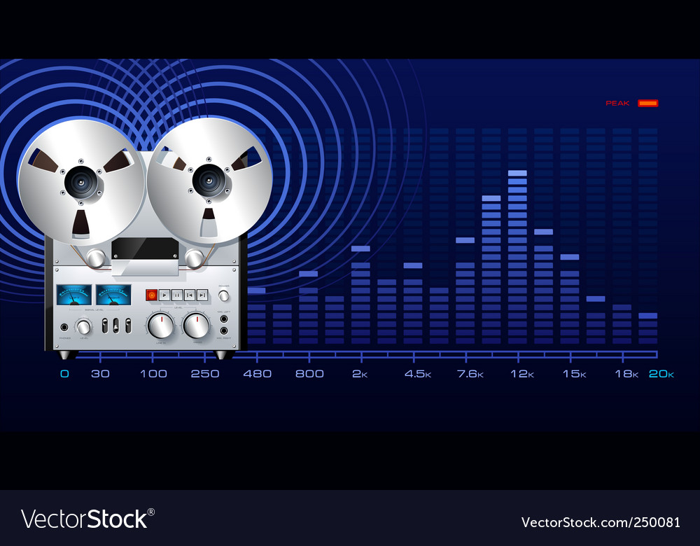 Analog recorder vector | Price: 3 Credit (USD $3)