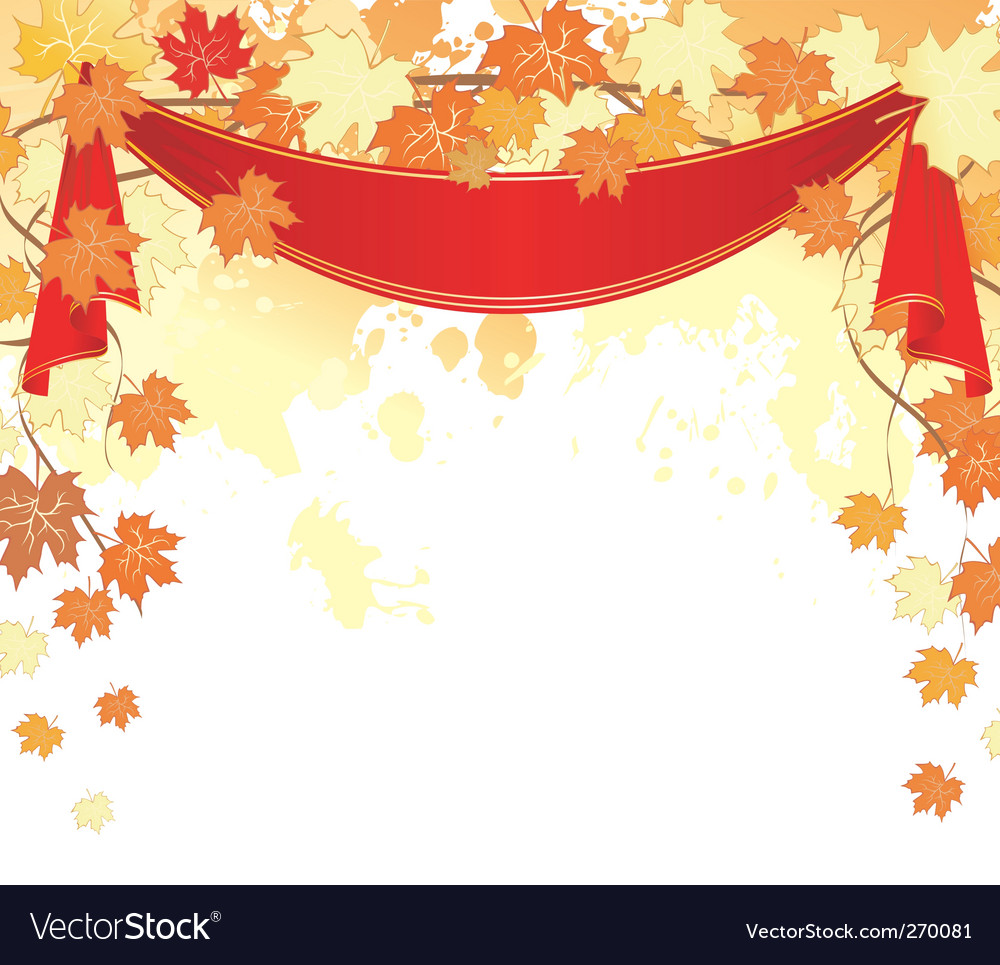 Autumn back splash ribbon vector | Price: 1 Credit (USD $1)