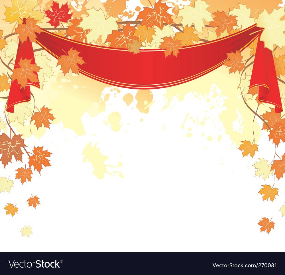 Autumn back splash ribbon vector | Price: 1 Credit (USD $1)