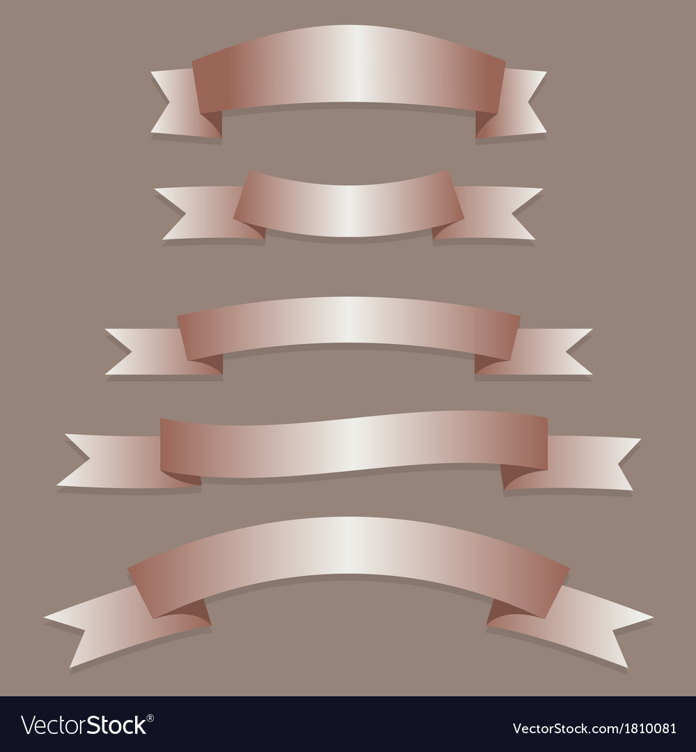 Bronze ribbons flags vector | Price: 1 Credit (USD $1)