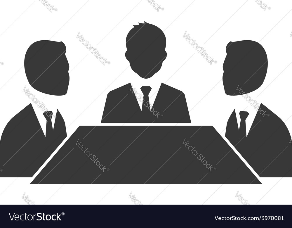 Business meeting symbol isolated on white vector | Price: 1 Credit (USD $1)