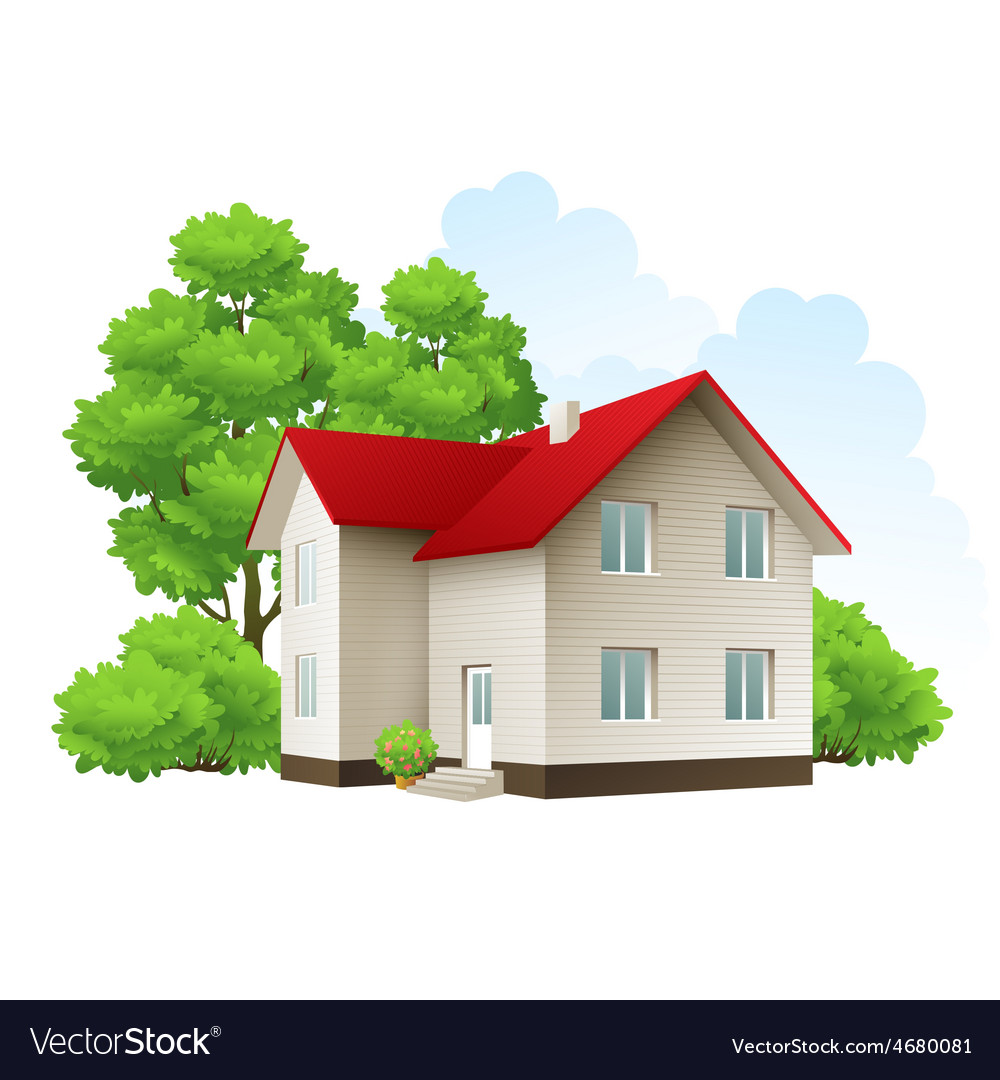 Cool detailed house icon vector | Price: 3 Credit (USD $3)
