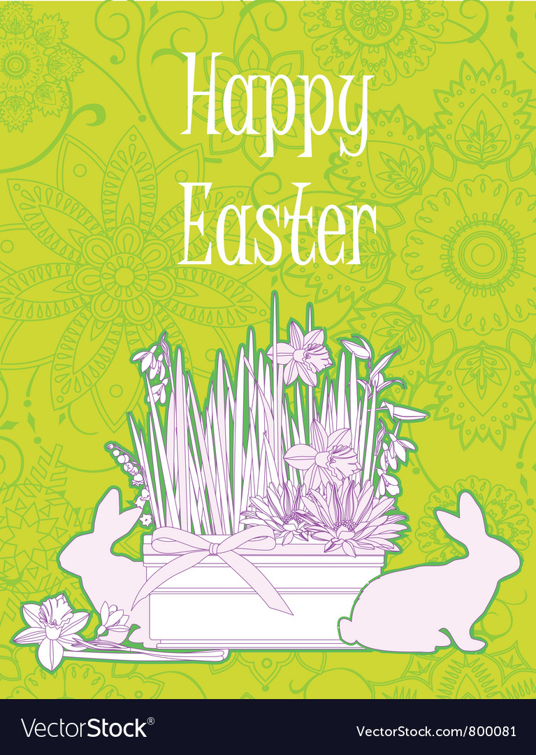 Easter background vector | Price: 1 Credit (USD $1)