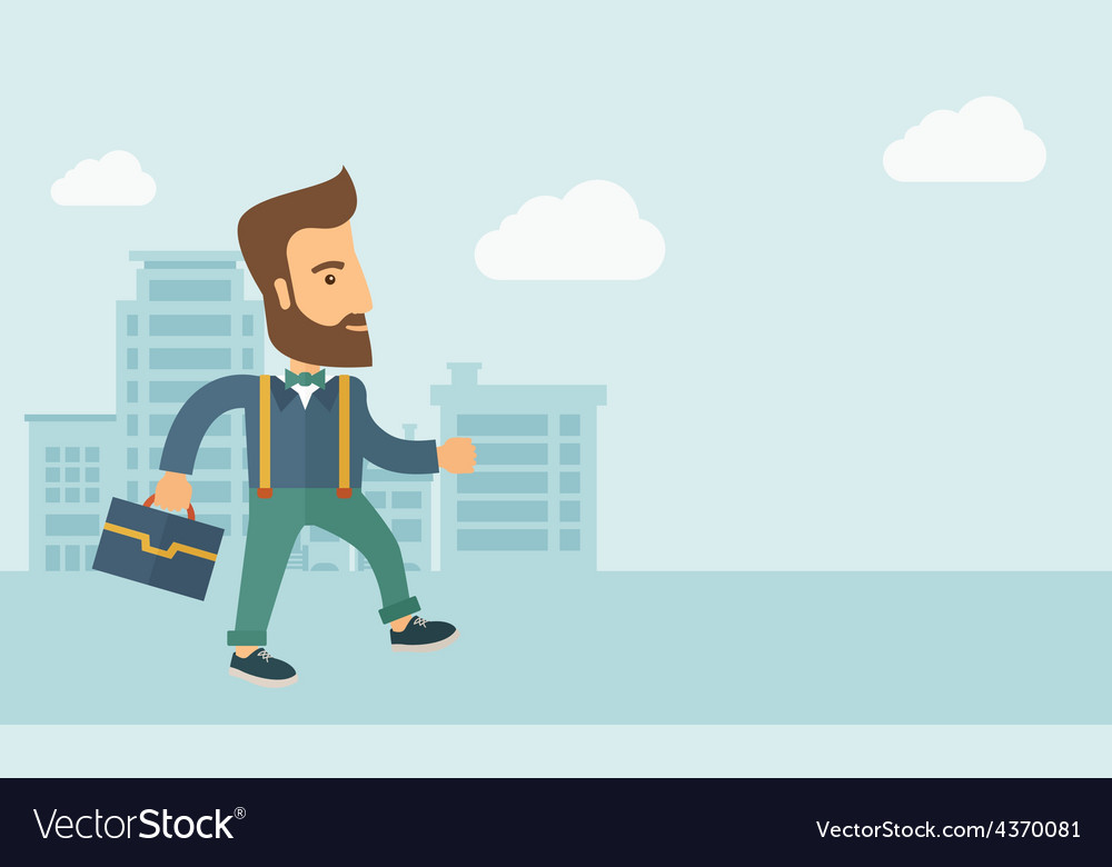 Handsome young man walking vector | Price: 1 Credit (USD $1)
