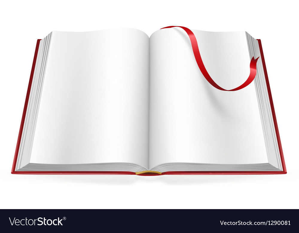 Open book with blank pages and sign vector | Price: 1 Credit (USD $1)