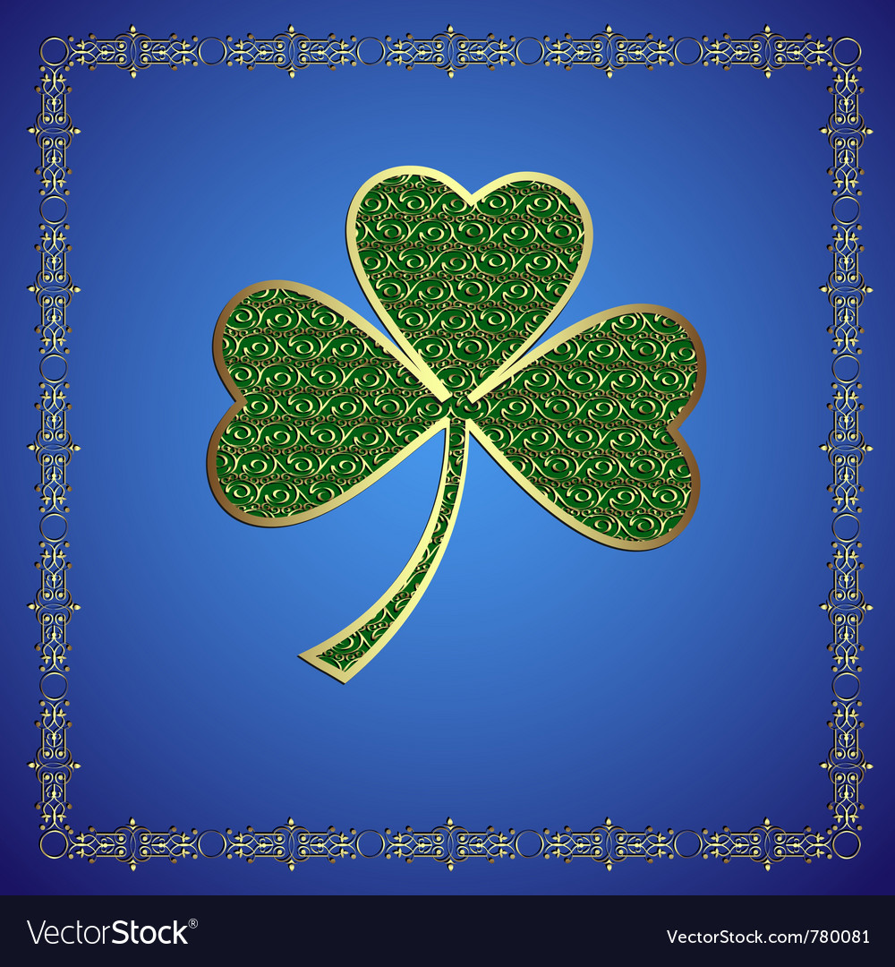 Precious shamrock vector | Price: 1 Credit (USD $1)