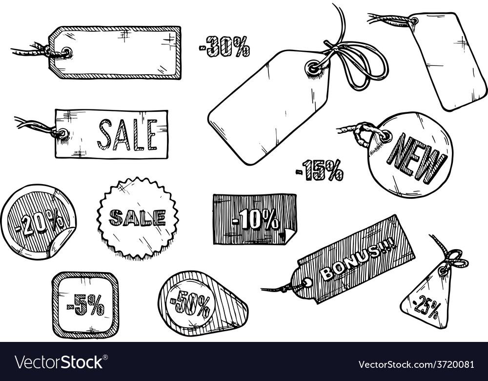 Sale labels set vector | Price: 1 Credit (USD $1)