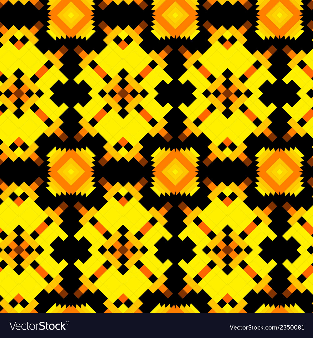 Seamless texture with aztec drawing vector | Price: 1 Credit (USD $1)