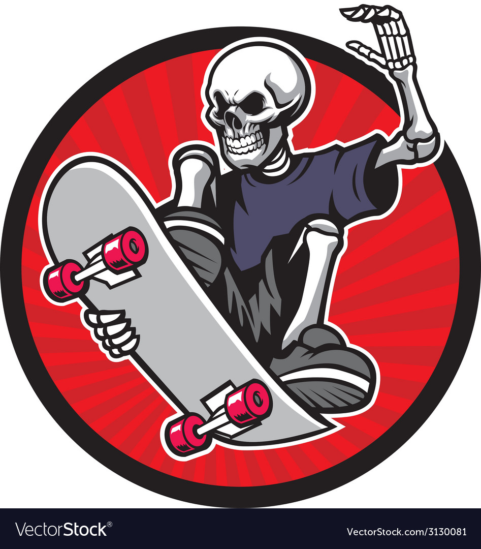 Skull skater vector | Price: 1 Credit (USD $1)